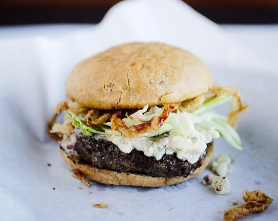 A burger from one of this year's finalists - JENNIFER SILVERBERG