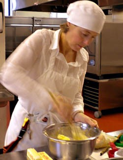 Jane Muscroft went to catering college. - DEBORAH HYLAND