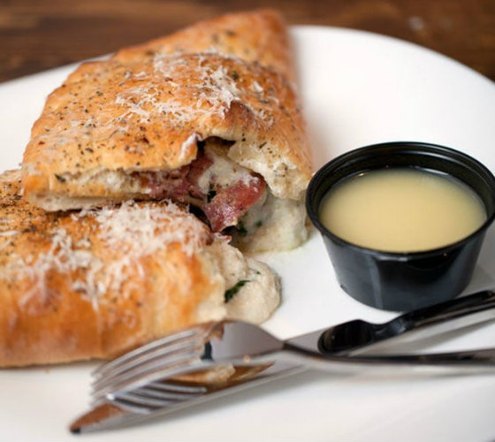Sauce on the Side's calzone. | Jennifer Silverberg