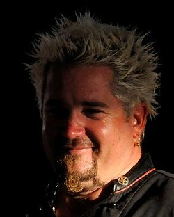 Guy Fieri, captured in a rare moment out of the spotlight