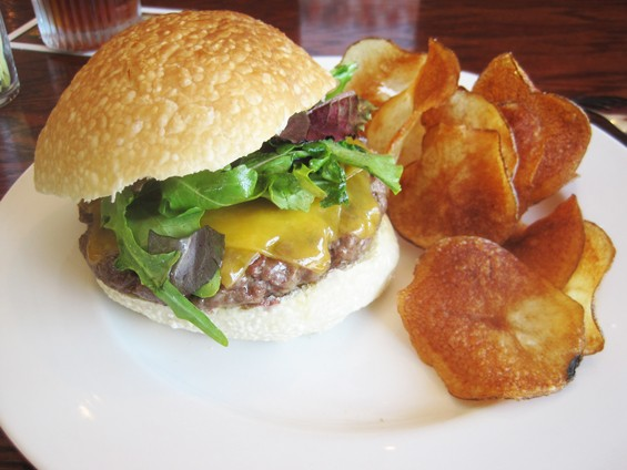 The famed Five burger , photographed in its previous home at Newstead Tower Public House - IAN FROEB