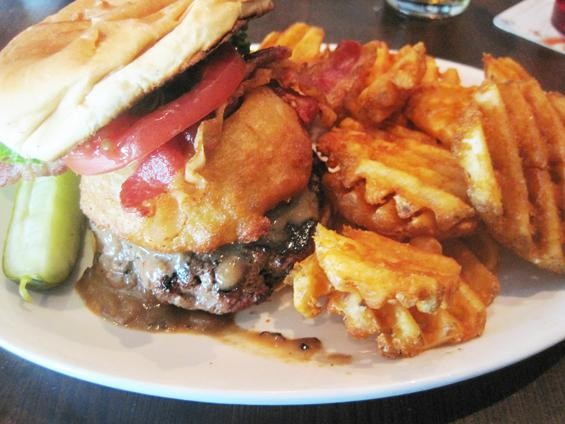 "The ""Peppercorn Bacon Burger"" at the Corner Pub & Grill - IAN FROEB"