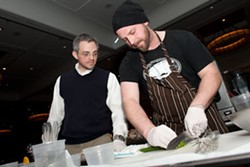 Andrew Jennrich of Farmhaus (right) at RFT's Iron Fork | Jon Gitchoff