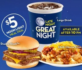 "Wendy's ""Moonlight Meal Deal,"" aimed at ""Millennial males."" 