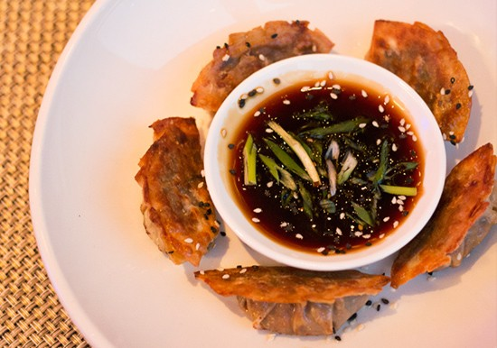 Steamed-shitake potstickers. | Photos by Mabel Suen