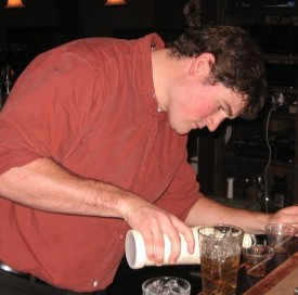 Monarch bartender Tyler Burns crafts a Spicy Nutcracker for Gut Check. - STEPHEN FAIRBANKS