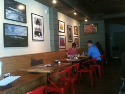 The dining room at Red Tomato. - ROBIN WHEELER