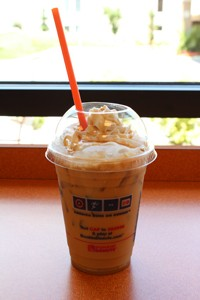 Caramel iced coffee from Dunkin' Donuts. - MABEL SUEN