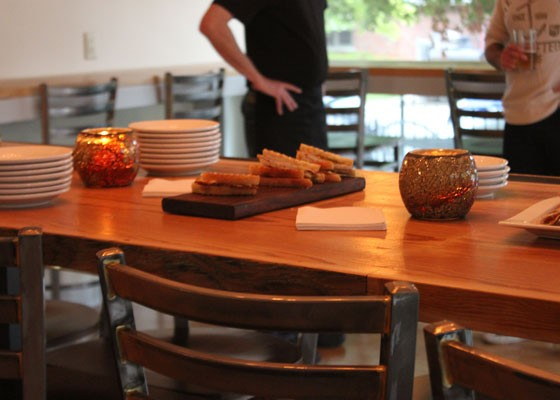The spread of small plates for guests. | Nancy Stiles