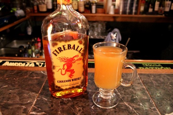 Fireball cinnamon whiskey instantly takes any glass of apple cider up a notch or two or three. - MABEL SUEN