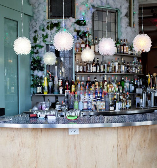 The bar at Plush - JENNIFER SILVERBERG