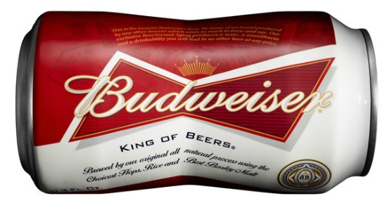 Budweiser's new formal attire. - IMAGE VIA