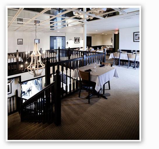 The upstairs dining room at Mathew's. | Jennifer Silverberg.