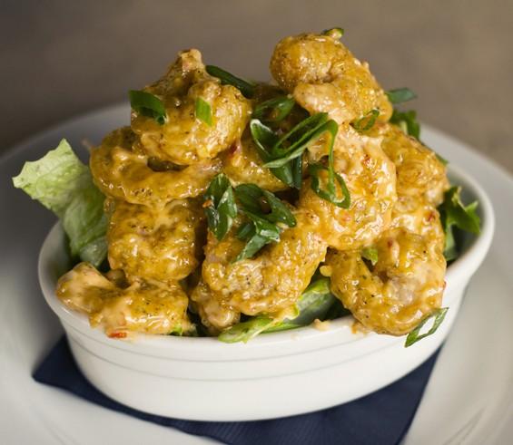 "Bonefish Grill's ""Bang Bang Shrimp"" tossed in creamy, spicy sauce. | Mabel Suen"