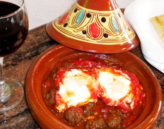 Baida's kefta meatball tagine. | Abder Meskine