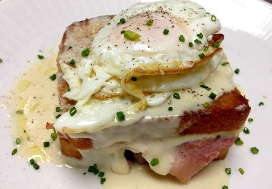 The croque madame at Scape.   Image courtesy of Scape
