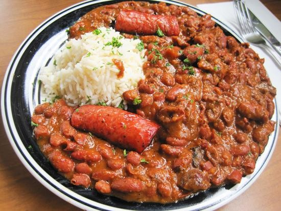 The red beans and rice at Riverbend Restaurant & Bar | Ian Froeb