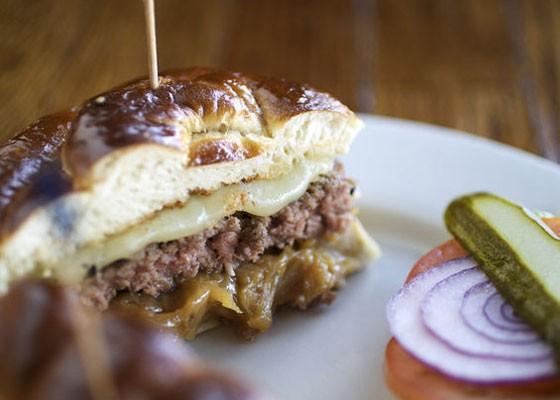 The pretzel melt at Three Kings Pub. | Jennifer Silverberg