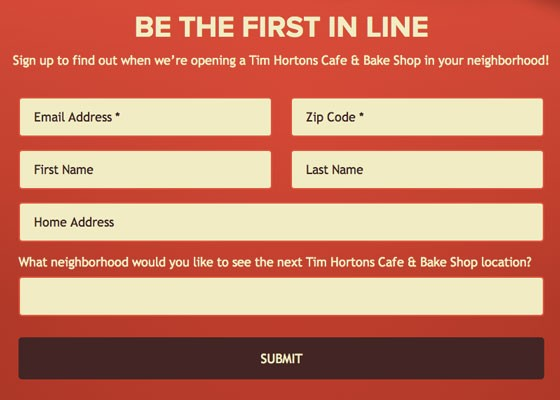 Want a Tim Horton's? Let them know.