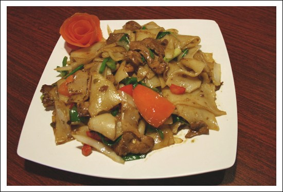 Chef Scott Truong's drunken noodles with beef, at Pearl Cafe. - CHRISSY WILMES
