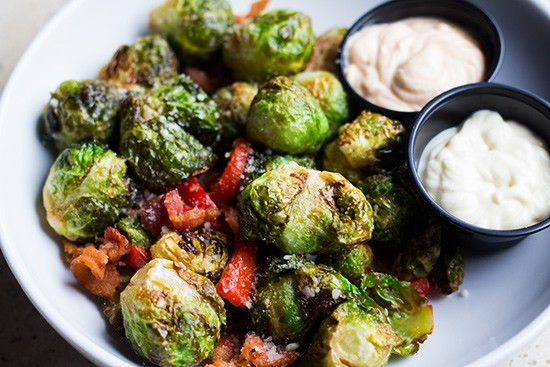 Fried brussels sprouts.