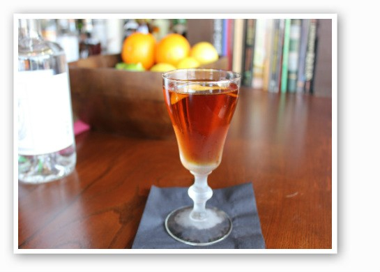 """A well-crafted cocktail, """"Down for the Count."""" 