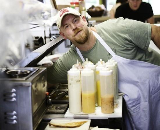 Mark Lucas in the Fozzie's kitchen - JENNIFER SILVERBERG