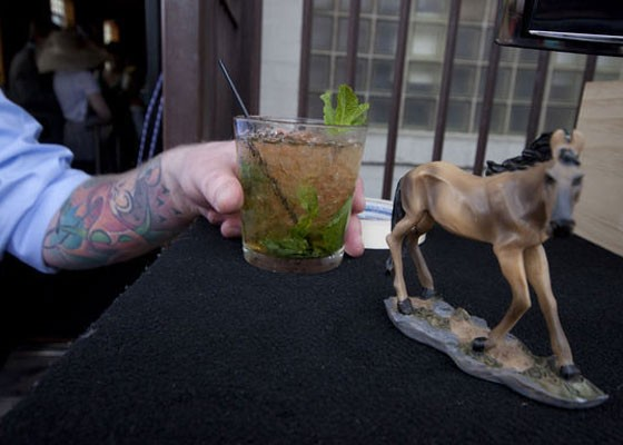 A mint julep at the Royale's annual Kentucky Derby party. | Brian Villa