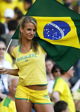 Brazil is the home of great soccer players...and supermodels