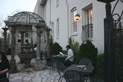 Salt's courtyard. - CHRISSY WILMES