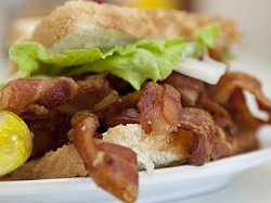 "The ""Heart-Stopping BLT"" at Crown Candy Kitchen is ready for its close-up. - LAURA MILLER"
