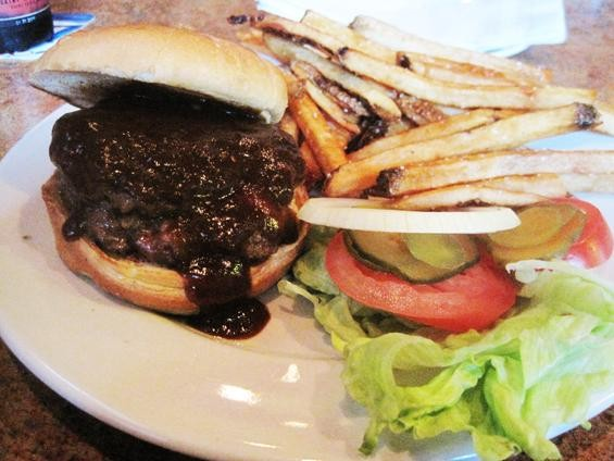 "The ""Wicked Burger"" at the Wicked Lady Pub - IAN FROEB"