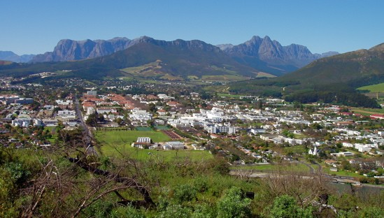 The view near Stellenbosch, in South Africa. Would you buy wine grown near here? Gut Check would! - IMAGE CREDIT
