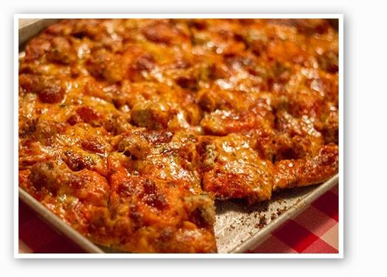 A hand-made Italian sausage pizza at Monte Bello.   Mabel Suen