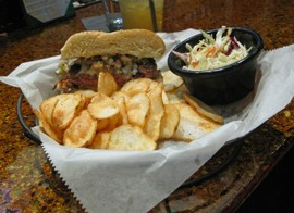 """Tee's lamb burger, otherwise known as """"Phyl."""" - KRISTIE MCCLANAHAN"""