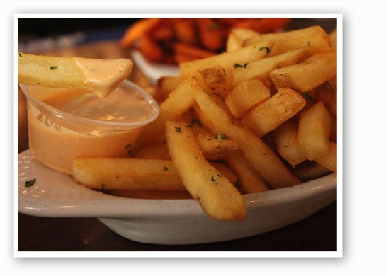 Fries with Sriracha mayo at Three Kings.   Nancy Stiles