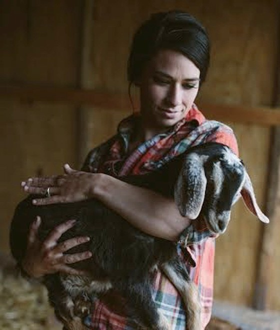 Autumn Sij with her goat, Lucy Ricardo-Ball. | Virginia Harold with compliments of Such and Such Farm