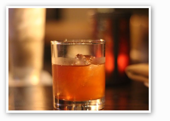 The Gamlin Manhattan, made with Basil Hayden whiskey.   Nancy Stiles