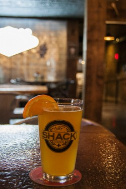 A pint of Shock Top at the Shack. - CAILLIN MURRAY