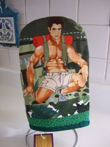 Love your mom? Give her a Manwhore pot holder for Mother's Day!