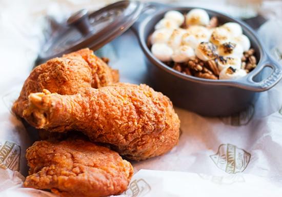 Old Standard's three-piece chicken dinner. | Photos by Mabel Suen