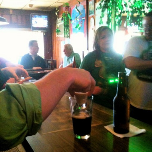 One Irish car bomb, beertender! - ROBIN WHEELER