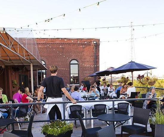 The patio at Vin de Set, one of St. Louis' favorite spots for outdoor dining. - LAURA MILLER