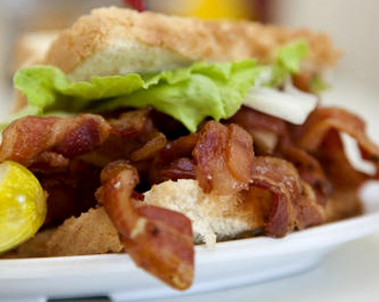 "The ""Heart Stopping BLT"" at Crown Candy Kitchen -- delicious, but maybe don't let Grandpa see the name of this one. - RFT PHOTO"
