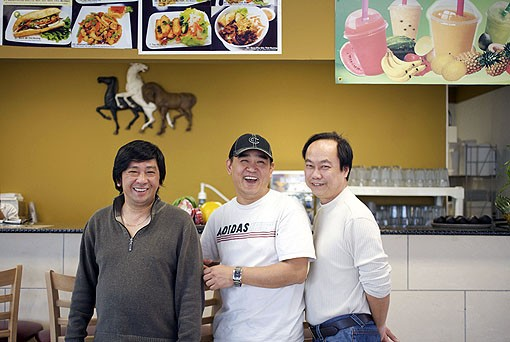 Mama Pho owners, from left to right: Vincent Huynh, Loi Lam and Richard Ly. Both Vincent and Loi came to St Louis from Chicago five months ago to open Mama Pho. See the full slideshow here. - PHOTO: JENNIFER SILVERBERG
