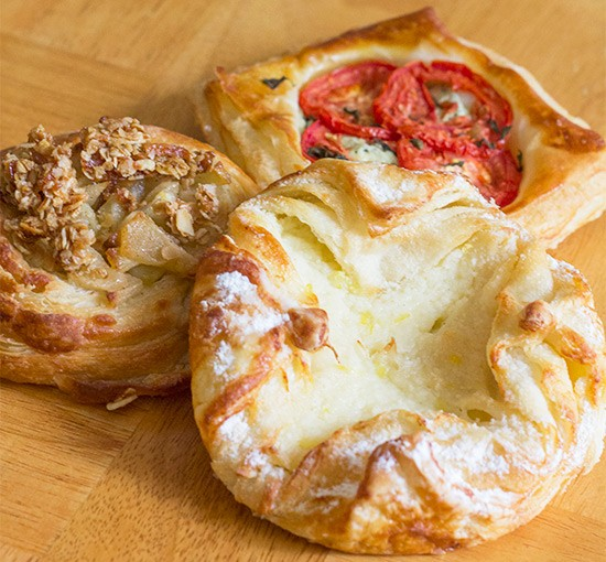 Pastries come in sweet and savory varieties at Whitebox Eatery. | Photos by Mabel Suen