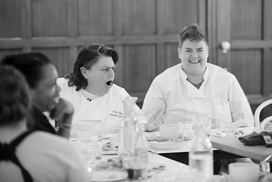 Veteran restaurateur and pioneering chef Lisa Slay and executive chef at the Whittemore House, Grace Dinsmoor. - COREY WOODRUFF