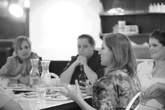 Chef Mary Boehne in foreground. - COREY WOODRUFF
