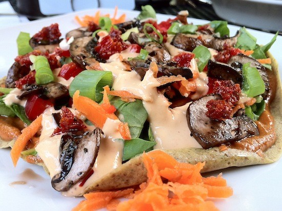 Raw barbecue pizza. - BRYAN PETERS