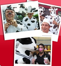 A PeTA ad? Far from it. Be pro-cow, dress up as a one. Something for everyone, old and young? - FROM CHIK-FIL-A'S FACEBOOK PAGE.